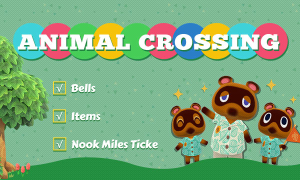 Fast way to buy Animal Crossing New Horizons Items, Bells and Ticket: