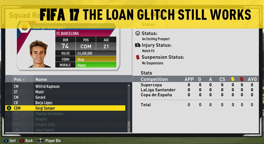 FIFA 17 Career Mode Loan Glitch - potential glitch - How To Grow Young Players Potential Fast