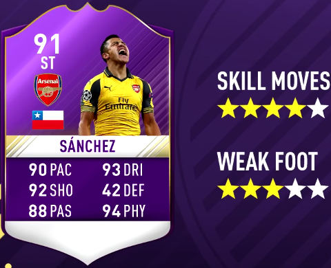 FIFA 17 PL Player Of The Month December Predictions - POTM-Alexis Sánchez