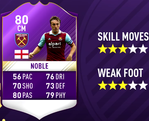 FIFA 17 PL Player Of The Month December Predictions - POTM-Mark Noble