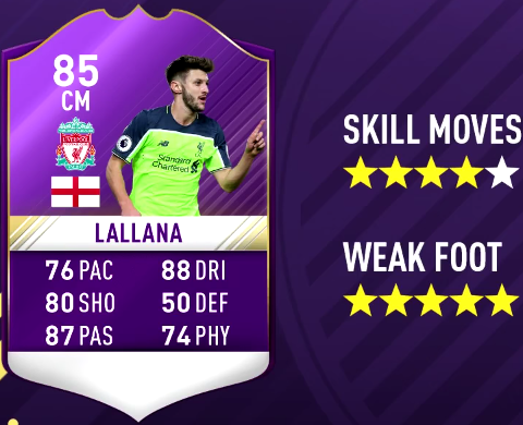 FIFA 17 PL Player Of The Month December Predictions - POTM-Adam Lallana
