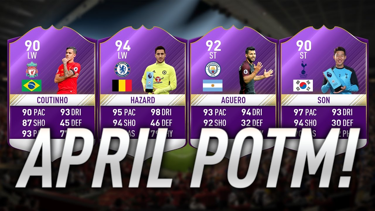 FIFA 17 PL POTM April Predictions - Candidates and Investments for Premier League Play Of The Month Of April
