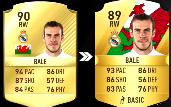 FIFA 18 Players Rating Biggest La Liga Downgrades Players Rating-bale