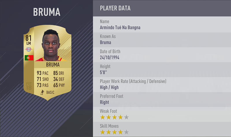 TOP 20 FASTEST PLAYERS 19. Bruma (93) LM